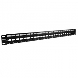 Patch Panel Nexxt 24p Vacíos 1U Metal Horizontal
