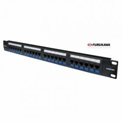 Patch Panel Furukawa 24p UTP Cat5E 1U 802.3af/at