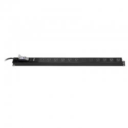 Regleta Para Rack Nexxt Vertical 125V-15A Negra