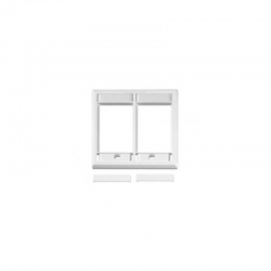 Placa de Pared Furukawa 4X2 UTP Face Blanco ROHS
