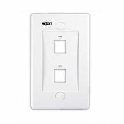 Placa de pared Nexxt Solutions 2 puertos RJ-45