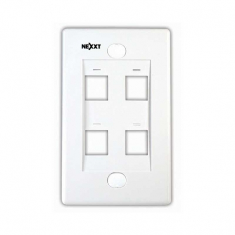 Placa de pared Nexxt Solutions 4 puertos RJ-45