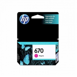 Cartuchos Tinta HP 670 Magenta Tintado Original