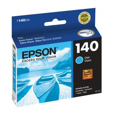 Cartuchos Tinta Epson 140 Cián Original T140220-AL