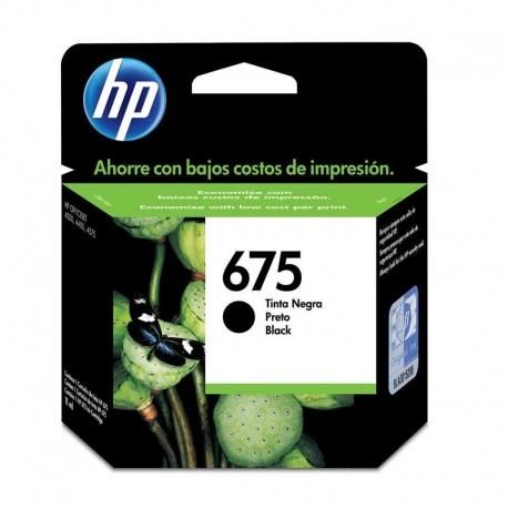 Cartuchos Tinta HP 675 Negro Original 600 Pag