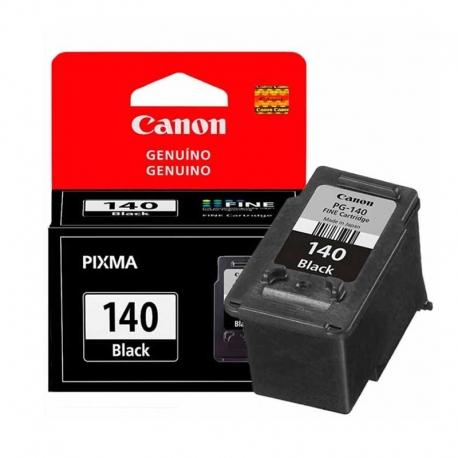 Cartuchos Tinta Canon PG 140 Negro Original 8ml
