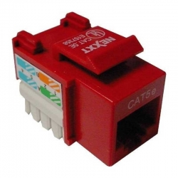 Conector modular Nexxt Solutions Rj45 red-1 port