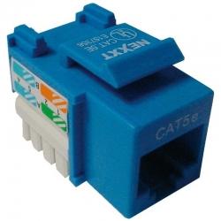 Conector modular Nexxt Solutions Rj45 blue-1 port
