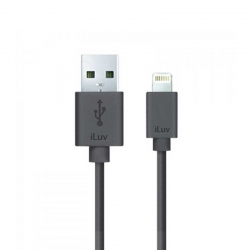 Adaptador USB para Iphone iLuv 91.4cm Negro
