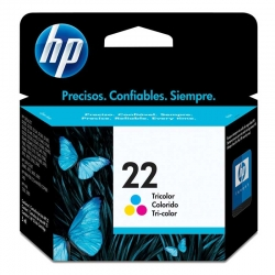 Cartuchos Tinta HP 22 Tricolor Original 5ml 165Pag