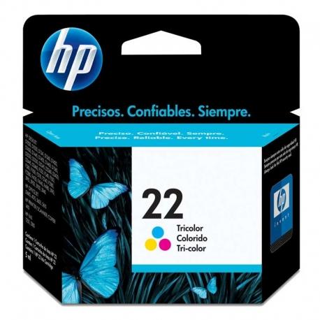 Cartuchos Tinta HP 22 Tricolor Original 5ml 165Pag