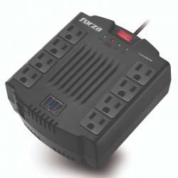 Regulador Voltaje Forza FVR-1211USB 600W 8 Tomas