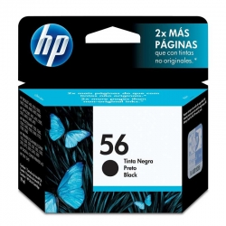 Cartuchos Tinta HP 56 Negro Original 19ml 520 Pag