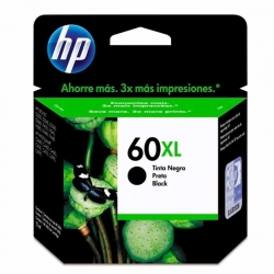 Cartuchos Tinta HP 60Xl Negro Original 12ml 600Pag
