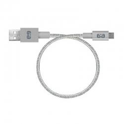 Cable USB PureGear a MicroUSB 2.0 Tipo B(M) Plata