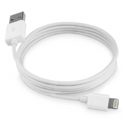 Cable USB Lightning para Apple Tipo A 1m -Blanco