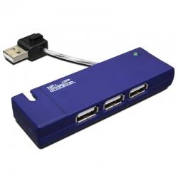 Hub USB Klip Xtreme KUH-400A 4 Puertos 2.0 -Azul
