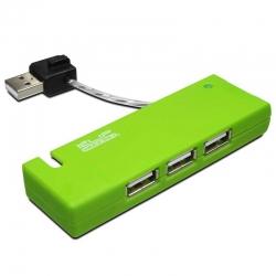 Hub USB Klip Xtreme KUH-400A 4 Puertos 2.0 -Verde