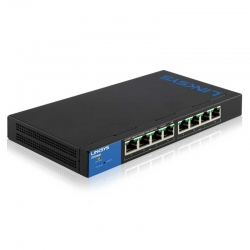 Switch Linksys 8p GigaE PoE 128 MB 802.3az