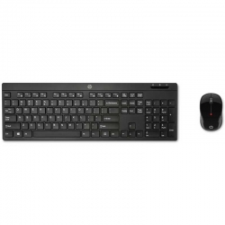 Combo Teclado y Mouse HP Z3Q63AA 2.4 GHz Negro