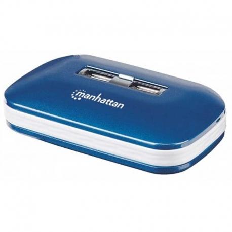 HUB USB Manhattan 161039 7 Puertos USB 2.0 Adap