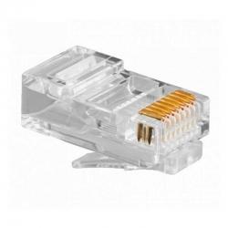 Jack Rj45 Newlink Cat6A 50u Solido UTP Trasparente