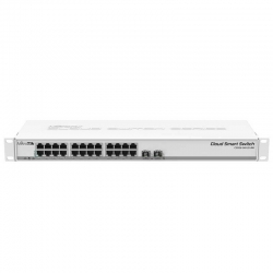 Switch Mikrotik 24p GigaE PoE 2p FO-SFP 2 MB Rack