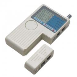 Probador de Red Intellinet RJ11, RJ45, USB y BNC