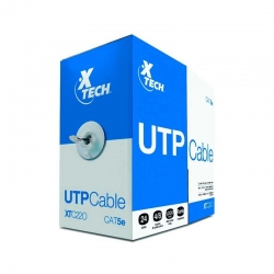 Patch Cord UTP Xtech 305 m Cat5E 100 Mbps Gris