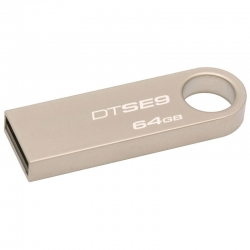 Memoria USB Kingston DTSE9H/64GB 64GB USB2.0 Plata
