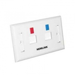 Placa de Pared Newlink 2p ABS 94V-0 Plastico Plano