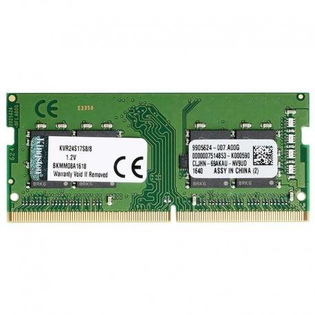 Memoria RAM Kingston 8GB DDR4 SODIMM 2400Mhz Cl17