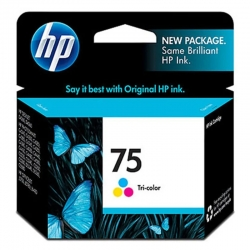 Cartucho Original de Tinta HP 75 3.5ml Multicolor