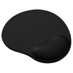 Mouse Pad IMEXX 25811 con Gel Negro Ergonómico