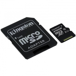 Tarjeta Micro SD Kingston Canvas 16GB UHS 80MB/s