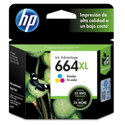 Cartucho Tinta HP 664XL Tricolor (F6V30AL)Original