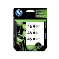 Cartucho HP Negro 3-Pack 46 Ultra 2529 4729 1500PG