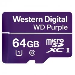 Memoria MicroSD Western Digital Purple 64GB C10