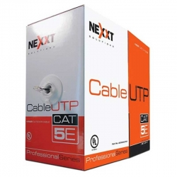 Caja de Red UTP Nexxt 305 m Cat5E 4 Pares UL Gris