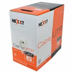 Caja de Red UTP Nexxt 305 m Cat6 4 Pares UL Gris