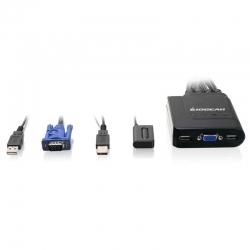 Splitter IOGEAR GCS24U 4 Puertos USB Tec Mou Mon
