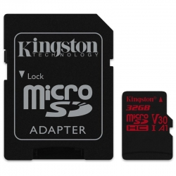 Tarjeta Micro SD Kingston Canvas React 32GB 100MB