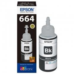 Botella de Tinta Epson T664 Negro Original 70ml