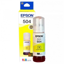 Botella de Tinta Epson 504 Amarillo Original 70ml
