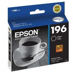 Cartucho de Tinta Epson T196 Negro Original 5ml