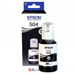 Botella de Tinta Epson 504 Negro Original 127ml