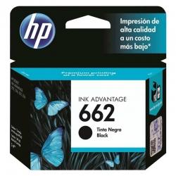 Cartucho de Tinta HP 662 Negro Original 2ml 120Pag