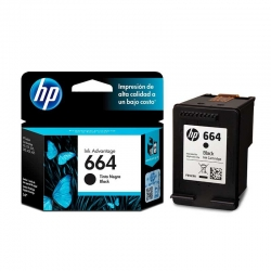 Cartucho de Tinta HP 664 Negro Original 2ml 120pág