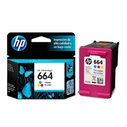 Cartucho de Tinta HP 664 Multicolor Original 2ml