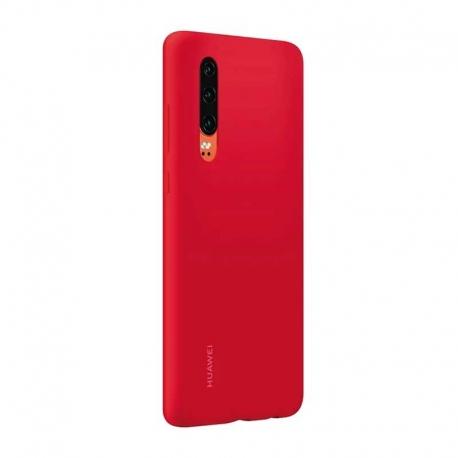 Estuche para Celular Huawei P30 Rojo Silicone